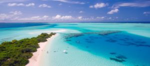 A beautiful beach with crystal blue waters