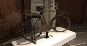 Gandhis bicycle on display in Amsterdam